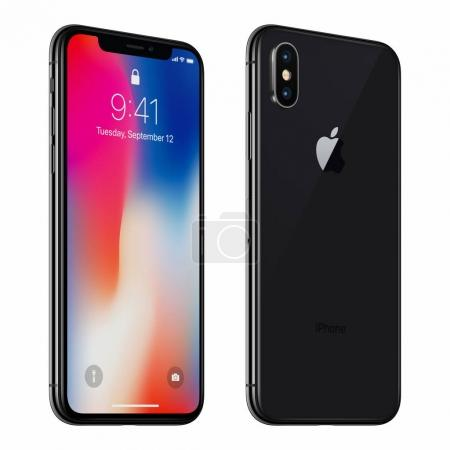 Black rotated Apple iPhone X