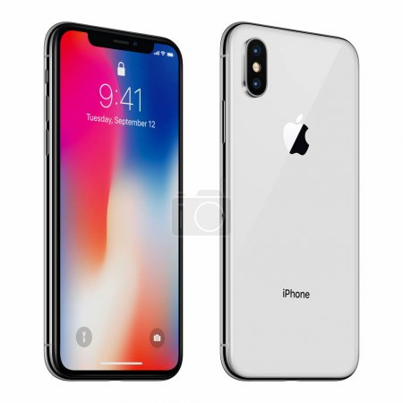 White rotated Apple iPhone X