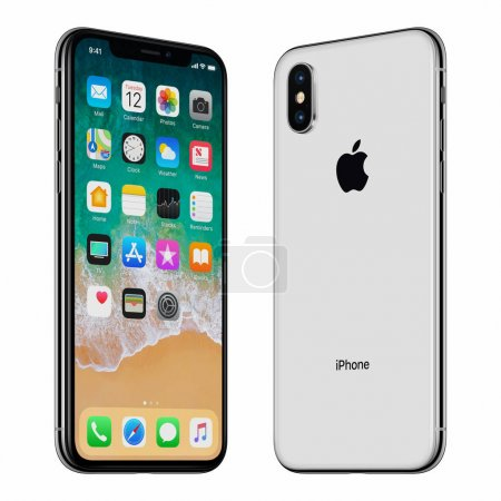 Black Apple iPhone X front