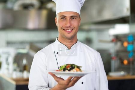 Photo for Professional chef in industrial kitchen - Royalty Free Image