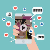 Viral content conceptual illustration Likes shares and comment