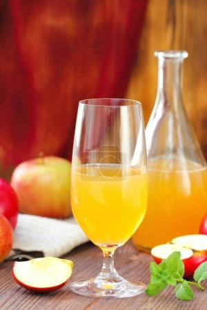 Apple cider in glass