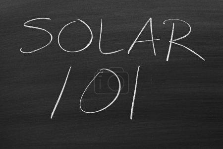 Solar 101 On A Blackboard