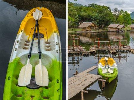 kayaks on the lake