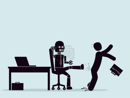 Evolution of robots, struggle for a place at work.