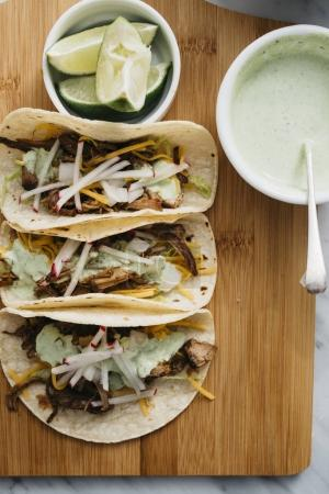 Carnitas Tacos Setup