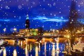 night in Stockholm, Sweden