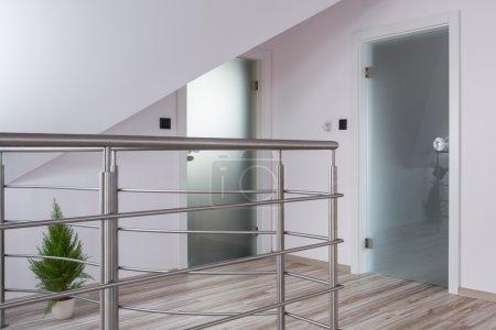 Chromed railing in new mansion