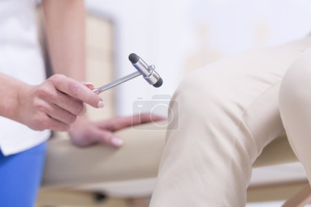 Patient during the medical examination