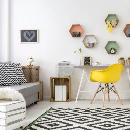 Teenage room in scandinavian style