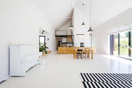 Spacious scandynavian living room