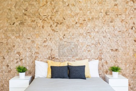 Bedroom with corkboard