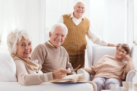 Pensioners of retirement home