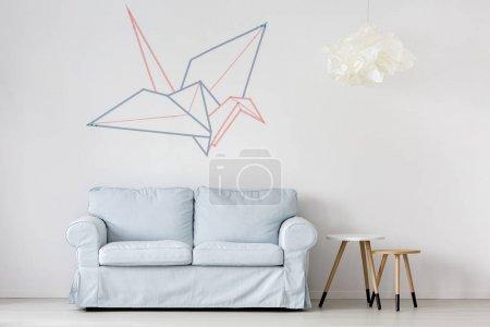 Pastel blue sofa