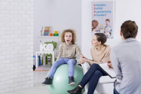 Child with ADHD during therapy