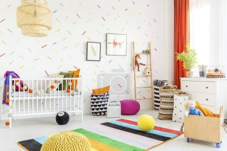 Mess in a baby room