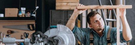 Employee performing woodwork