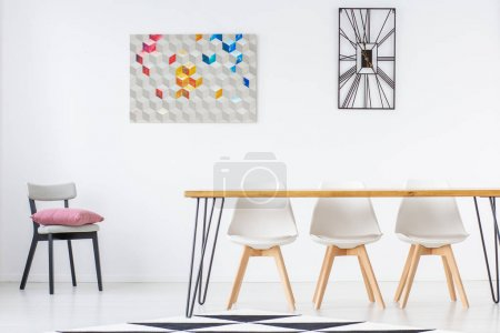 Dining room with simple furniture