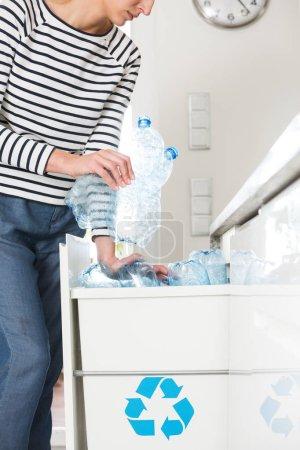 Eco activist segregating household waste