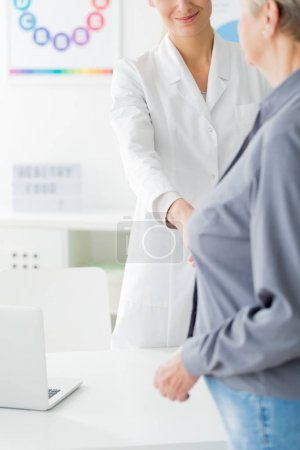 Doctor and patient before consultation