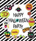 stylish halloween card