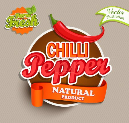 Chilli pepper logo lettering