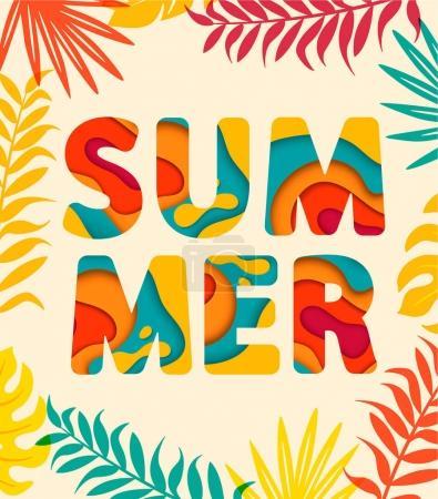 Summer card template