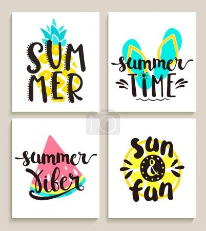 Bright summer cards.