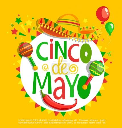 Cinco De Mayo, lettering poster