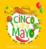 Cinco De Mayo lettering poster