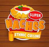 Nachos ethnic cuisine logo