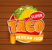 Taco mexican food logo
