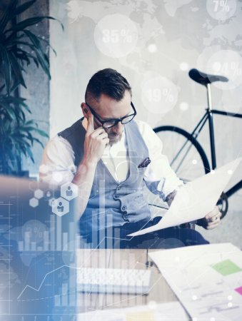 Man Working on  Startup Strategy