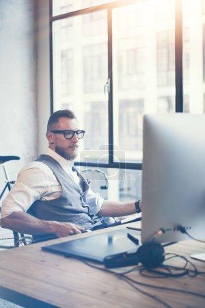 Guy Using Desktop Computer
