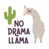 Lama lettering poster