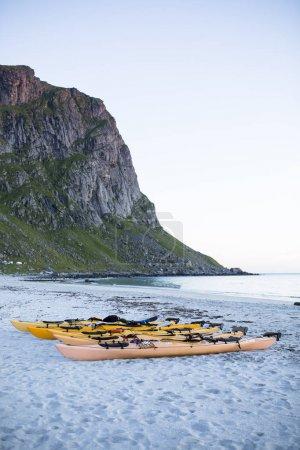 Kayaks at the beach.