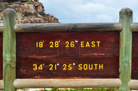 South Africa: the coordinates of the Cape of Good Hope
