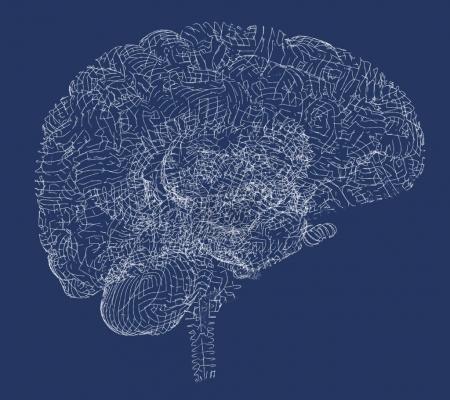Brain degenerative diseases, Parkinson, synapses, neurons, Alzheimer's, 3d rendering