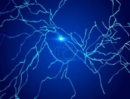 Neurons, synapses, neural network circuit of neurons, brain, degenerative diseases, Parkinson,