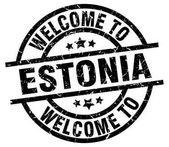 welcome to Estonia black stamp