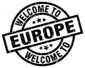 Welcome to europe black stamp