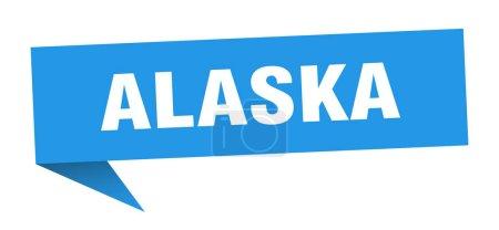 Illustration for Alaska sticker. Blue Alaska signpost pointer sign - Royalty Free Image