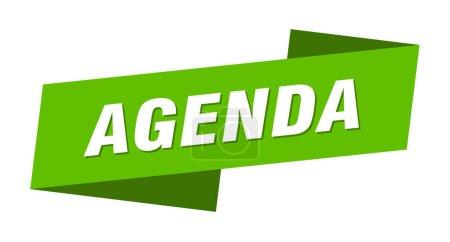 Foto de Plantilla de la agenda banner. la marca de la cinta del orden del día - Imagen libre de derechos