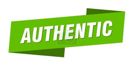 Foto de Plantilla banner auténtica. Signo auténtico de la etiqueta de cinta - Imagen libre de derechos