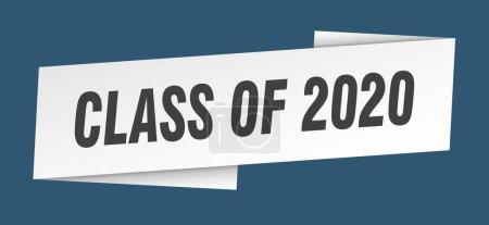 Foto de De la plantilla banner de 2020. clase de signo de la cinta 2020 - Imagen libre de derechos