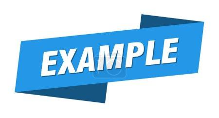Foto de Ejemplo plantilla banner. ejemplo, el signo de la cinta - Imagen libre de derechos