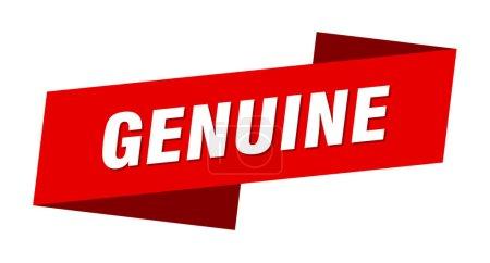Foto de Plantilla de bandera genuina. Signo genuino de etiqueta de cinta - Imagen libre de derechos