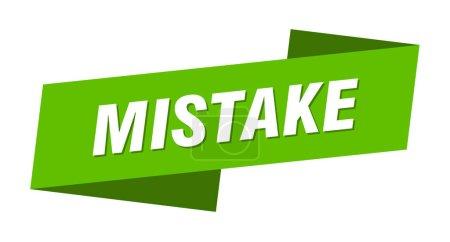 Foto de Error plantilla banner. signo de error ribbon label - Imagen libre de derechos