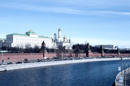 The Kremlin and The Moskva River, Moscow, Russia