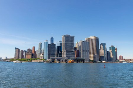 Besutiful view of Downotown Manhattan from Governors Island, NYC